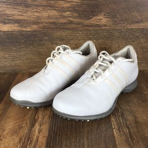 Adidas Climaproof White Golf Shoes Women's Sz 9.5